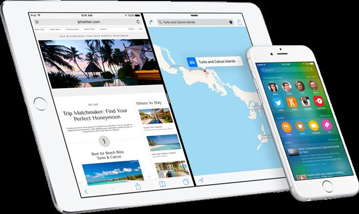Mise a jour iPhone iOS 9 Public Beta